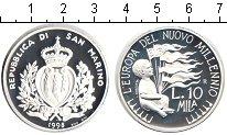 Изображение Монеты Сан-Марино 10000 лир 1998 Серебро Proof Миллениум