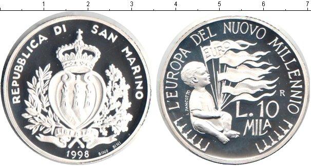 Картинка Монеты Сан-Марино 10.000 лир Серебро 1998