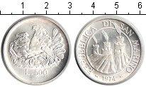 Изображение Монеты Сан-Марино 500 лир 1974 Серебро UNC