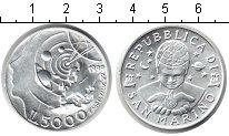 Изображение Монеты Сан-Марино 5.000 лир 1999 Серебро UNC Эксплорация