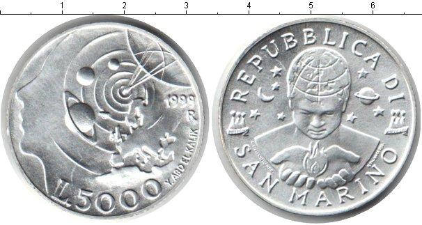 Картинка Монеты Сан-Марино 5.000 лир Серебро 1999