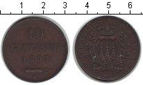 Изображение Монеты Сан-Марино 10 сентесим 1893 Медь XF
