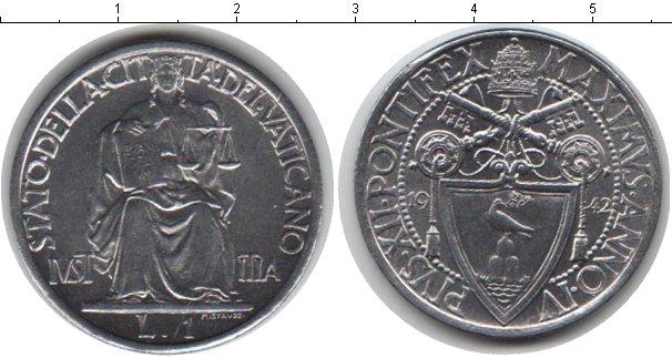 Картинка Монеты Ватикан 1 лира Медно-никель 1942