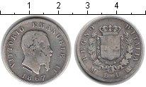 Изображение Монеты Италия 1 лира 1867 Серебро  Витторио Имануил II.