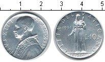 Изображение Монеты Ватикан 10 лир 1951 Алюминий UNC- Пий XII