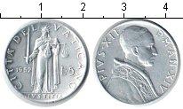 Изображение Монеты Ватикан 5 лир 1952 Алюминий UNC- Пий XII