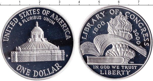 Картинка Монеты США 1 доллар Серебро 2000
