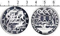 Изображение Монеты Сан-Марино 5 евро 2003 Серебро Proof XXVIII летние Олимпи