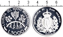 Изображение Монеты Сан-Марино 5.000 лир 1998 Серебро Proof-
