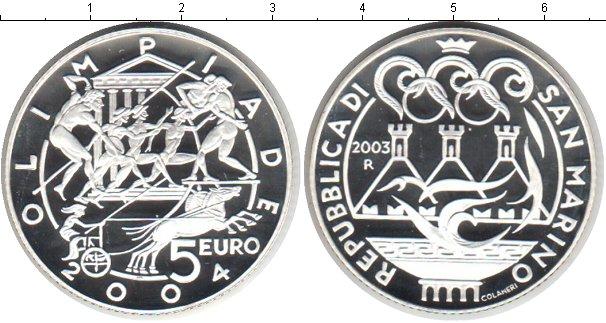Картинка Монеты Сан-Марино 5 евро Серебро 2003