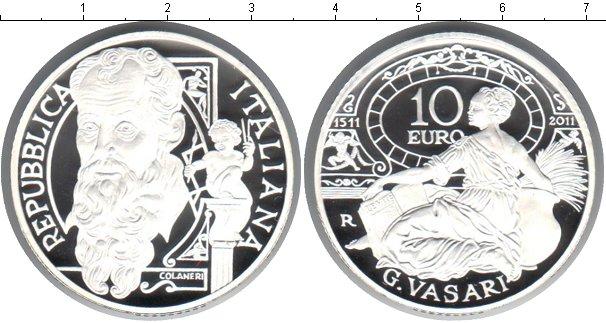Картинка Монеты Италия 10 евро Серебро 2011