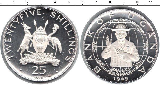 Картинка Монеты Уганда 25 шиллингов Серебро 1969