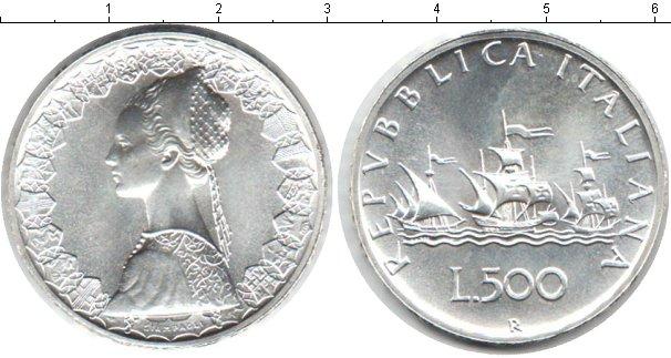 Картинка Монеты Италия 500 лир Серебро 1989