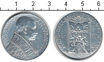 Изображение Монеты Ватикан 10 лир 1950 Алюминий UNC-