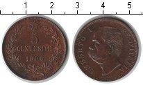 Изображение Монеты Италия 5 сентезимо 1896 Медь XF Умберто I