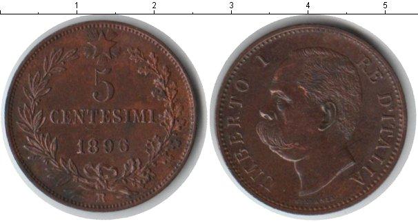 Картинка Монеты Италия 5 сентезимо Медь 1896