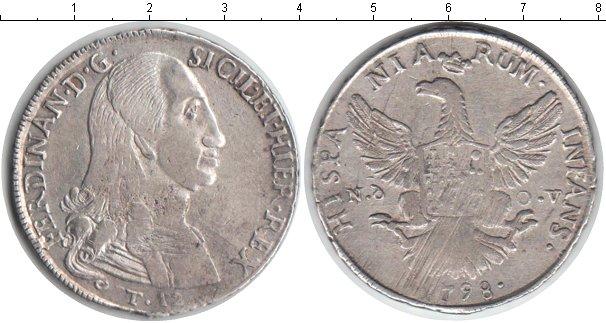 Картинка Монеты Сицилия 12 тари Серебро 1798