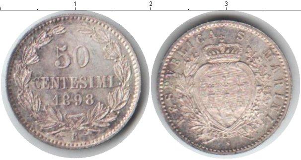 Картинка Монеты Сан-Марино 50 сентесими Серебро 1898