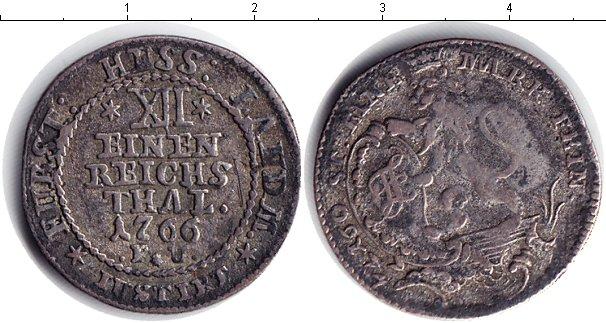 Картинка Монеты Гессен-Кассель 1/12 талера Серебро 1766