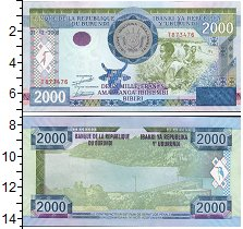 Изображение Боны Бурунди 2000 франков 2008  UNC- Сбор урожая на плант