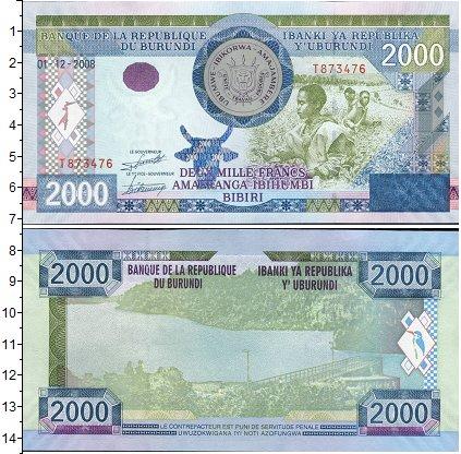 Картинка Банкноты Бурунди 2.000 франков  2008