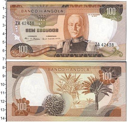 Картинка Банкноты Ангола 100 эскудо  1972