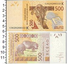 Изображение Боны КФА 500 франков 0  UNC-