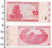 Изображение Боны Зимбабве 10 долларов 2009  UNC-