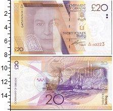 Изображение Банкноты Гибралтар 20 фунтов 2011  UNC