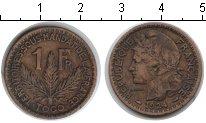 Изображение Монеты Того 1 франк 1924 Медь VF