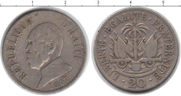 Картинка Монеты Гаити 20 сантимов Медно-никель 1907