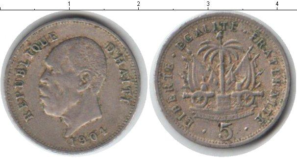 Картинка Монеты Гаити 5 сантимов Медно-никель 1904
