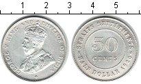 Изображение Мелочь Стрейтс-Сеттльмент 50 центов 1920 Серебро XF