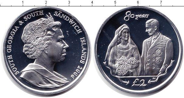 Картинка Монеты Сендвичевы острова 2 фунта Серебро 2006