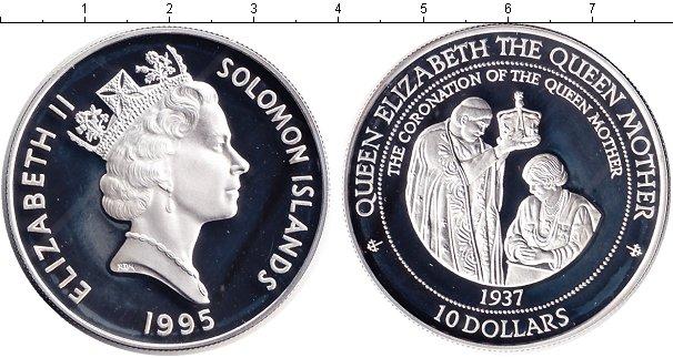 Картинка Монеты Соломоновы острова 10 долларов Серебро 1995