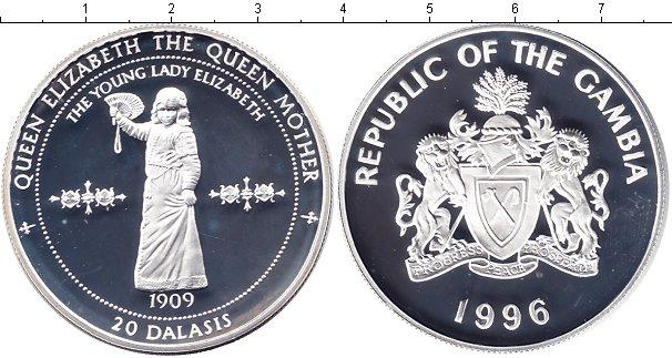 Картинка Монеты Гамбия 20 даласи Серебро 1996