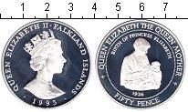 Изображение Монеты Фолклендские острова 50 пенсов 1995 Серебро Proof-