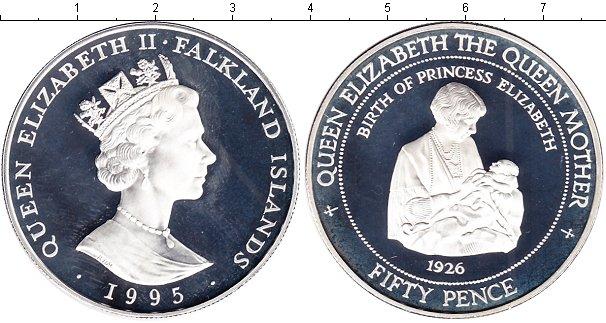 Картинка Монеты Фолклендские острова 50 пенсов Серебро 1995