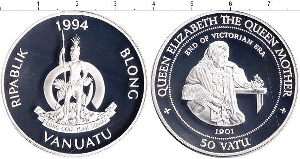Картинка Монеты Вануату 50 вату Серебро 1994