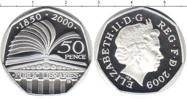 Картинка Монеты Великобритания 50 пенсов Серебро 2000