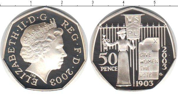 Картинка Монеты Великобритания 50 пенсов Серебро 2003