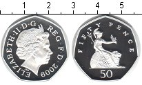 Изображение Монеты Великобритания 50 пенсов 2009 Серебро Proof- Елизавета II.