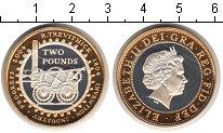 Изображение Монеты Великобритания 2 фунта 2004 Серебро Proof Первый паровой локом