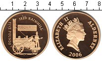 Изображение Монеты Олдерни 5 фунтов 2006  Proof- Елизавета II