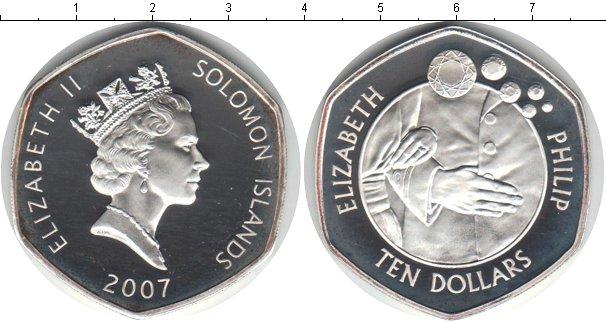 Картинка Монеты Соломоновы острова 10 долларов Серебро 2007