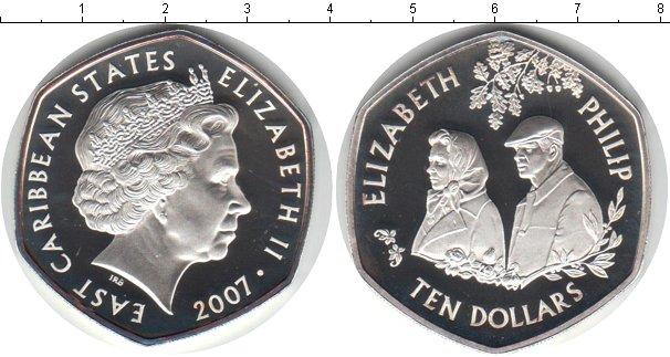 Картинка Монеты Карибы 10 долларов Серебро 2007