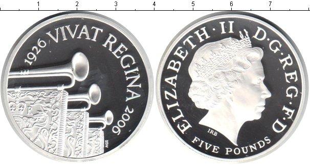 Картинка Монеты Великобритания 5 фунтов Серебро 2006