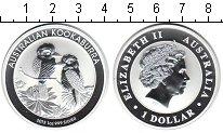Изображение Монеты Австралия 1 доллар 2013 Серебро Proof Кукабара