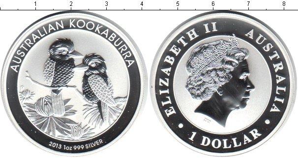 Картинка Монеты Австралия 1 доллар Серебро 2013