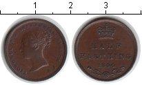 Изображение Монеты Великобритания 1/2 фартинга 1844 Медь XF Виктория.